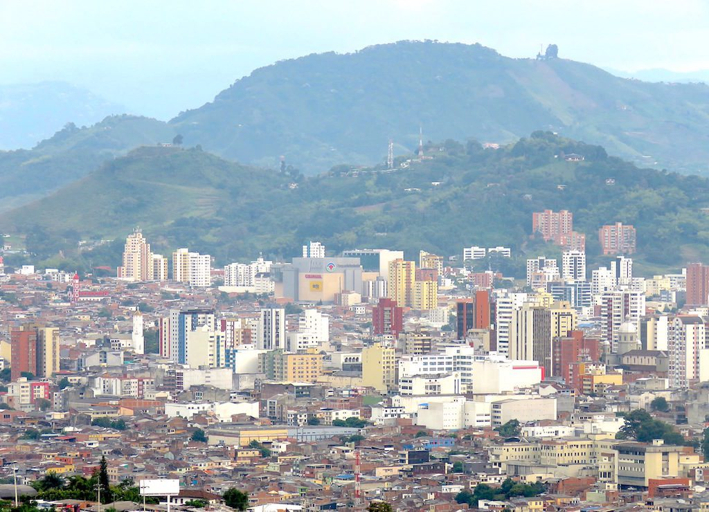 View of Pereira from Mirador outlook