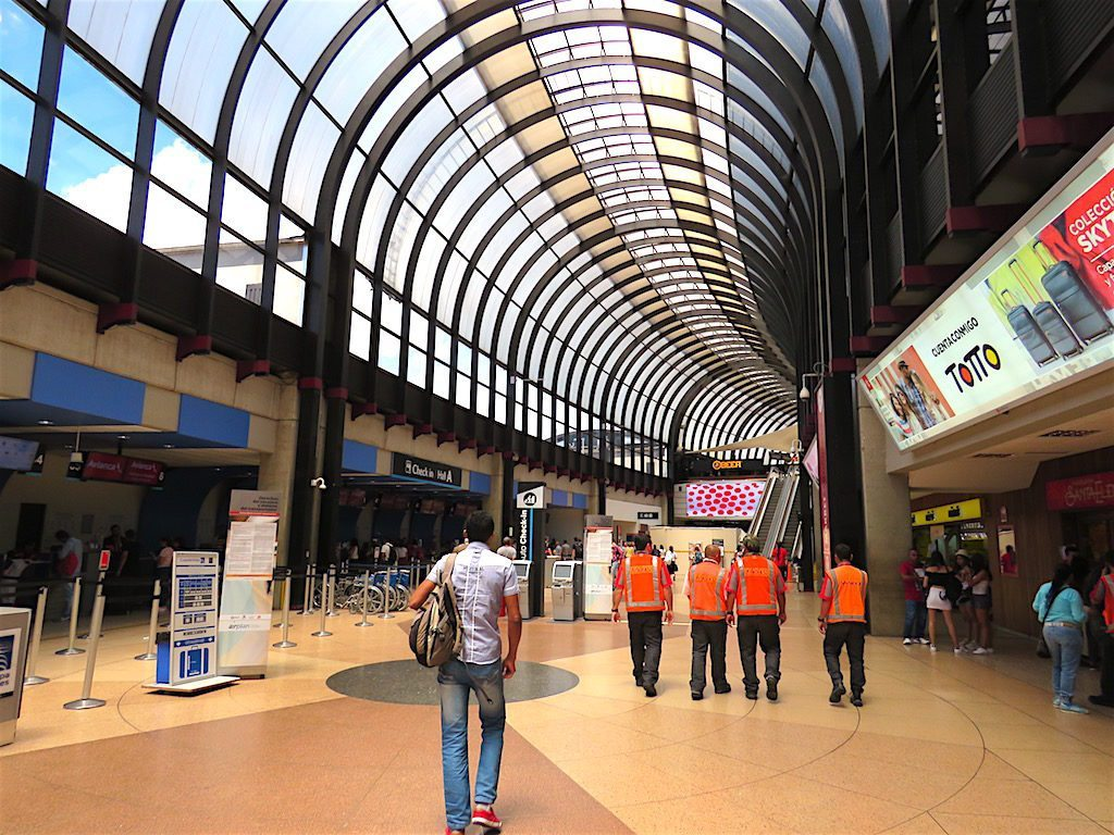 Inside the terminal at José María Córdova airport in Medellín