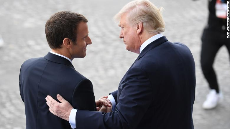 Trump-Macron: Red carpet treatment belies differences on Iran, Syria