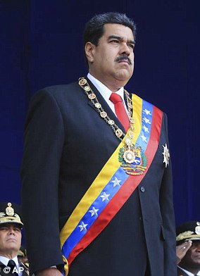 President Maduro (pictured during Saturday