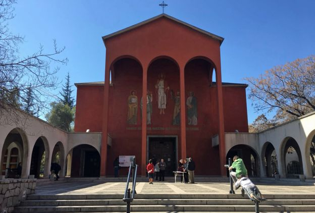 The Church of the Sacred Heart in El Bosque